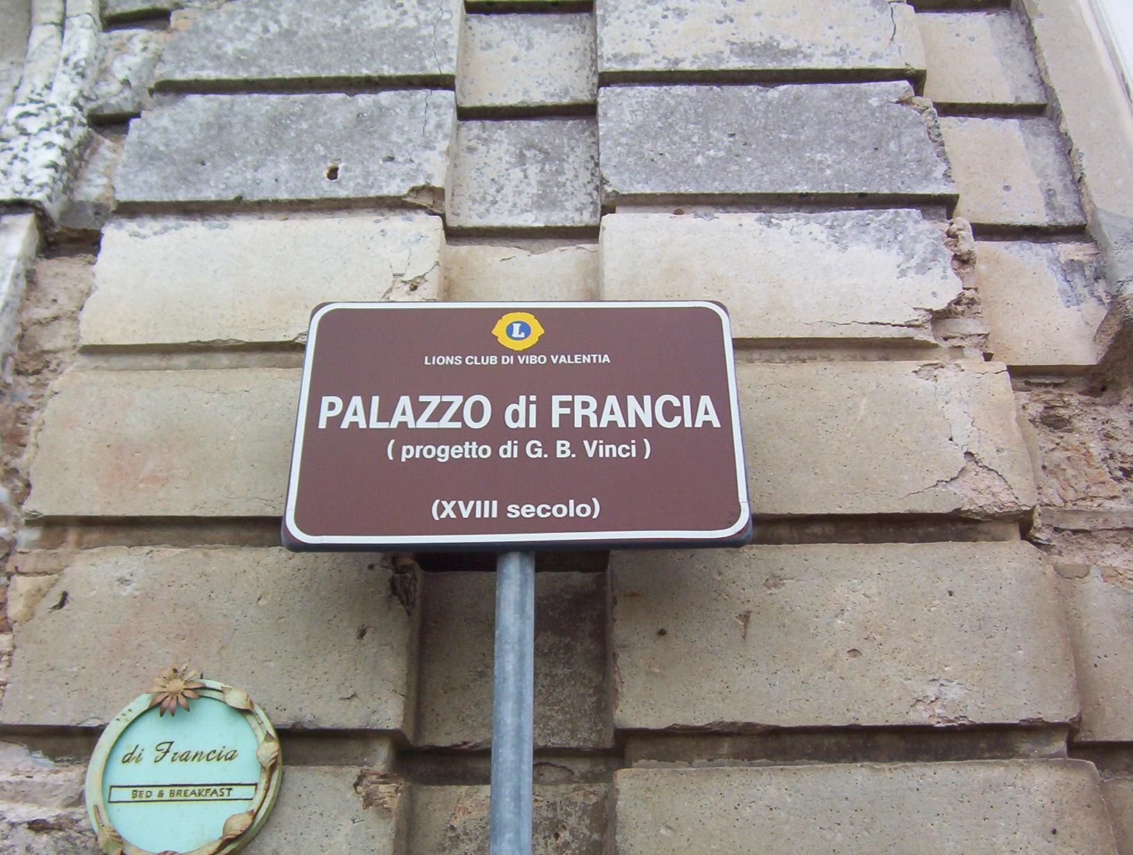 Cover Palazzo di Francia